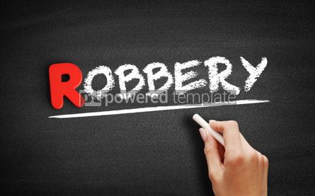 Business: Robbery text on blackboard #00292