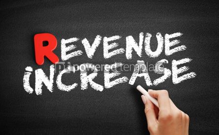 Business: Revenue increase text on blackboard #00293