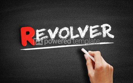Business: Revolver text on blackboard #00295