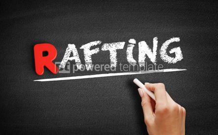 Business: Rafting text on blackboard #00302