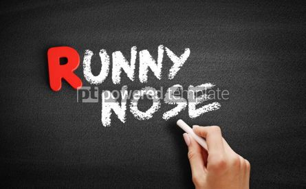 Business: Runny nose text on blackboard #00305