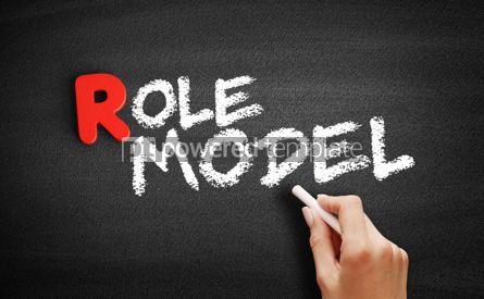 Business: Role model text on blackboard #00306