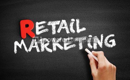 Business: Retail marketing text on blackboard #00309