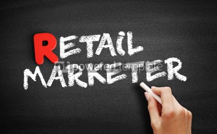 Business: Retail marketer text on blackboard #00310