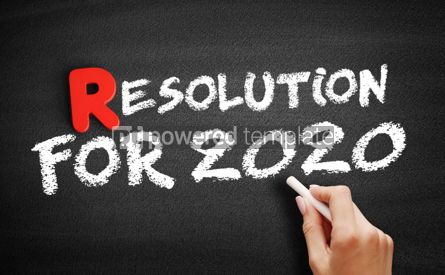 Business: Resolution for 2020 text on blackboard #00312