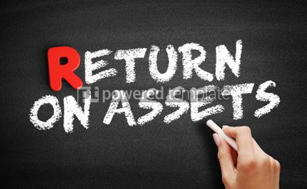 Business: Return On Assets text on blackboard #00315