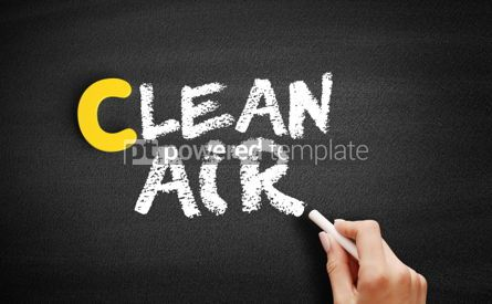 Business: Clean Air text on blackboard #00316