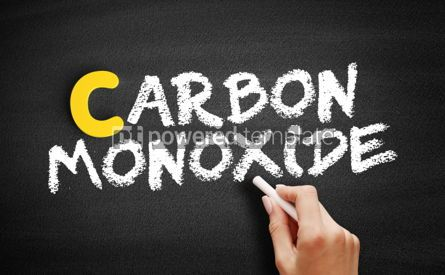 Business: Carbon Monoxide text on blackboard #00318