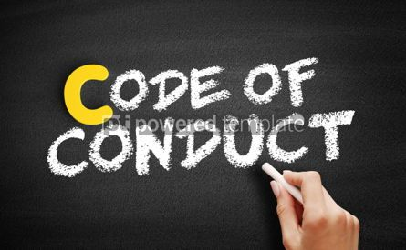 Business: Code Of Conduct text on blackboard #00319
