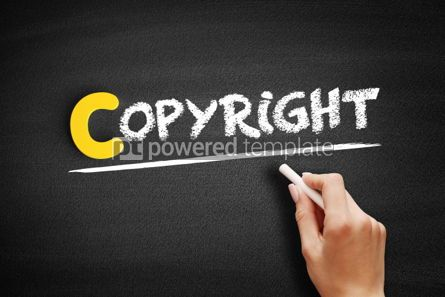 Business: Copyright text on blackboard #00322