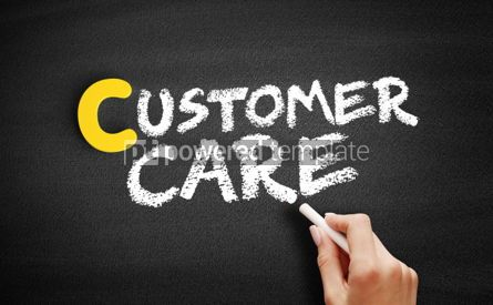 Business: Customer Care text on blackboard #00325