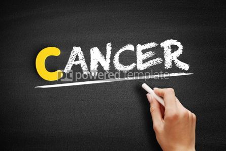 Business: Cancer text on blackboard #00327