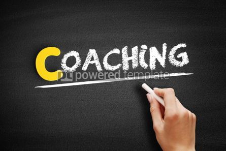 Business: Coaching text on blackboard #00328