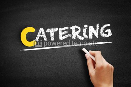 Business: Catering text on blackboard #00329
