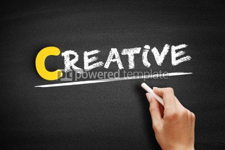 Business: Creative text on blackboard #00330