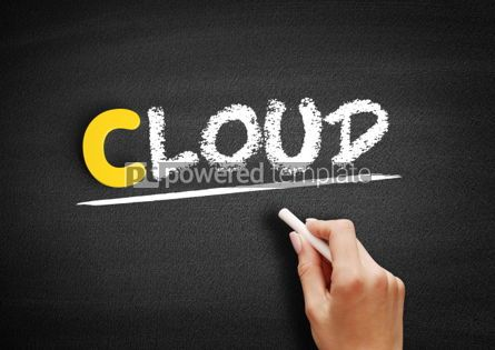 Business: Cloud text on blackboard #00331