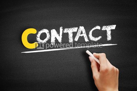 Business: Contact text on blackboard #00335