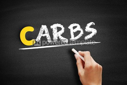 Business: Carbs text on blackboard #00336