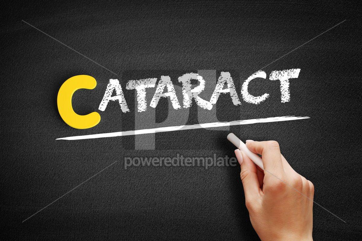 Cataract text on blackboard, 00338, Business — PoweredTemplate.com