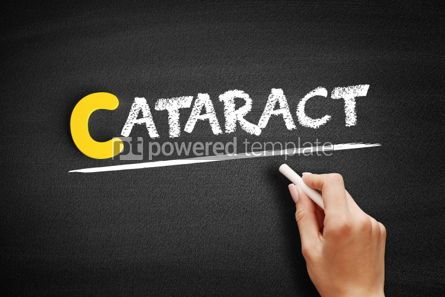 Business: Cataract text on blackboard #00338