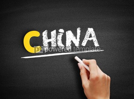 Business: China text on blackboard #00339