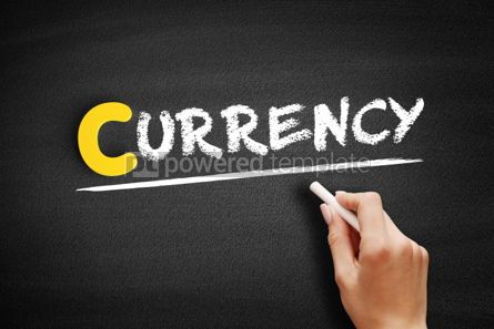Business: CURRENCY text on blackboard #00340