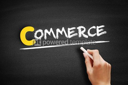 Business: COMMERCE text on blackboard #00341