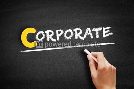 Business: CORPORATE text on blackboard #00343
