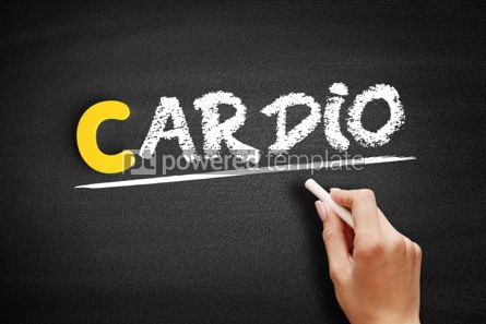 Business: Cardio text on blackboard #00344