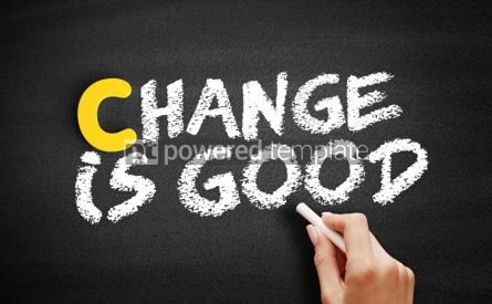 Business: Change is Good text on blackboard #00347