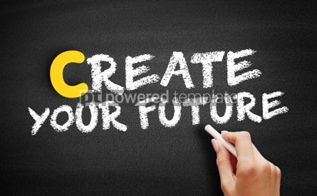 Business: Create your future text on blackboard #00353