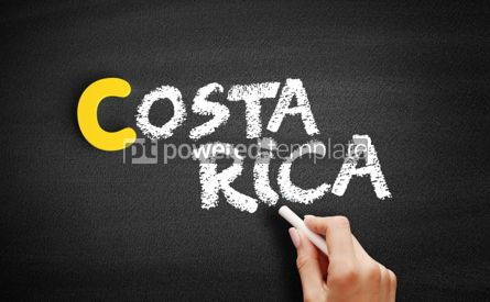 Business: Costa Rica text on blackboard #00354