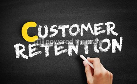 Business: Customer Retention text on blackboard #00355