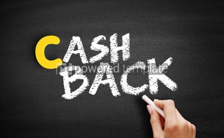 Business: Cash Back text on blackboard #00359
