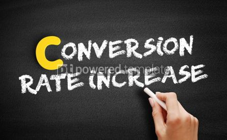 Business: Conversion Rate Increase text on blackboard #00360