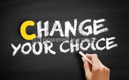 Business: Change Your Choice text on blackboard #00361