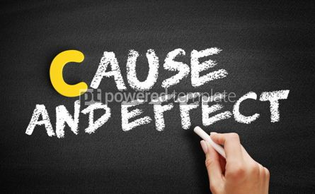 Business: Cause and Effect text on blackboard #00364