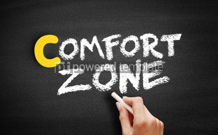 Business: Comfort Zone text on blackboard #00365