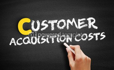 Business: Customer Acquisition Costs text on blackboard #00366