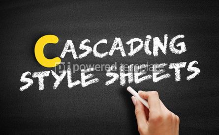 Business: Cascading Style Sheets text on blackboard #00367