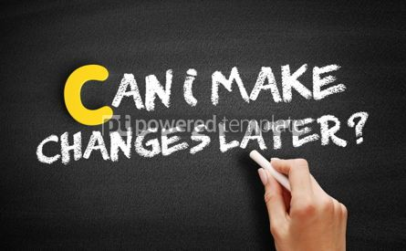 Business: Can I Make Changes Later text on blackboard #00368