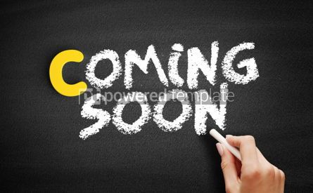 Business: Coming Soon text on blackboard #00369