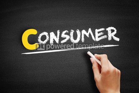 Business: Foto - texto de consumidor no quadro-negro #00370