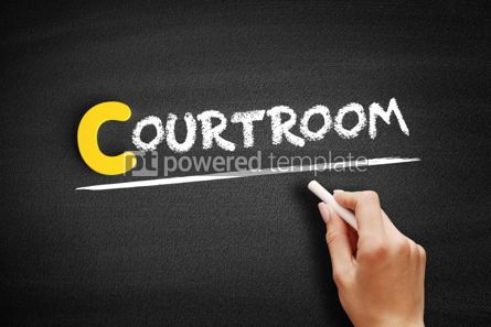 Business: Courtroom text on blackboard #00372