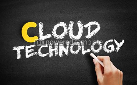 Business: CLOUD TECHNOLOGY text on blackboard #00373