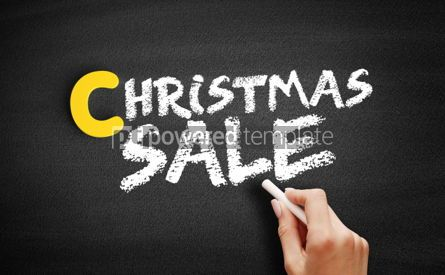 Business: Christmas SALE text on blackboard #00374