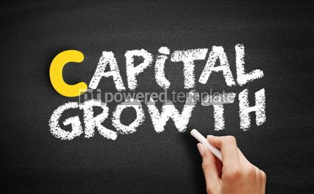 Business: Capital growth text on blackboard #00375