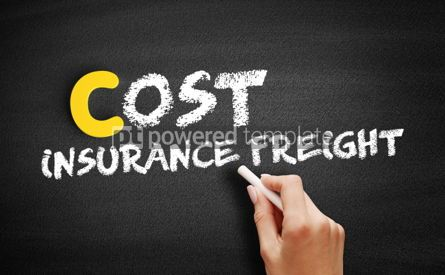 Business: Cost Insurance Freight text on blackboard #00376