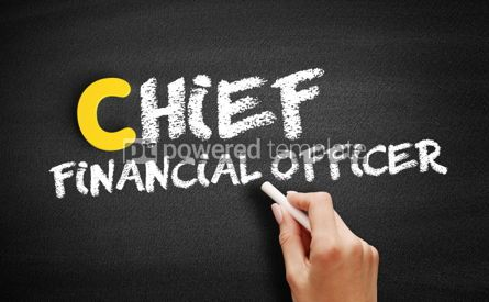 Business: Chief Financial Officer text on blackboard #00377