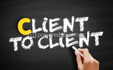 Business: Client To Client text on blackboard #00379